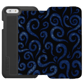 Blue Textured Swirls Incipio Watson™ iPhone 6 Wallet Case