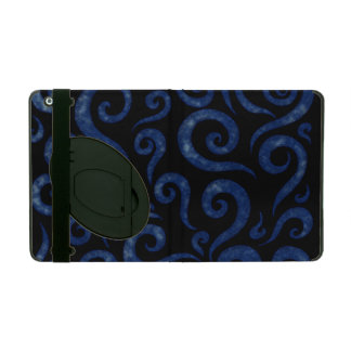 Blue Textured Swirls iPad Folio Case