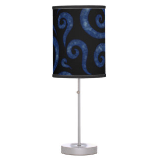 Blue Textured Swirls Table Lamp