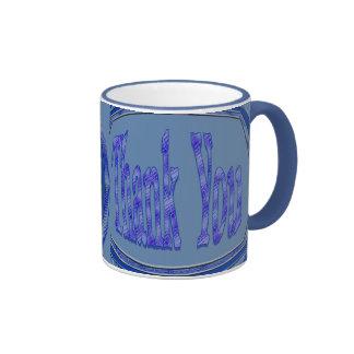 Blue Thank You circle Mug