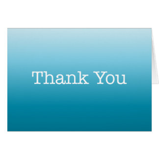 Blue Thank You Note American Typewriter Card