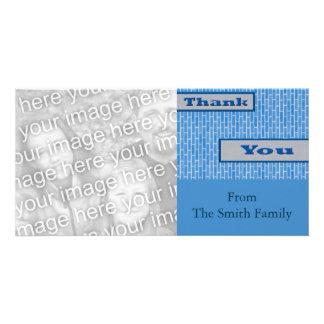 blue Thank You Photo Card