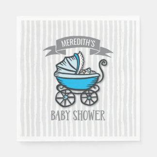 Blue-Themed Baby Shower Paper Napkin
