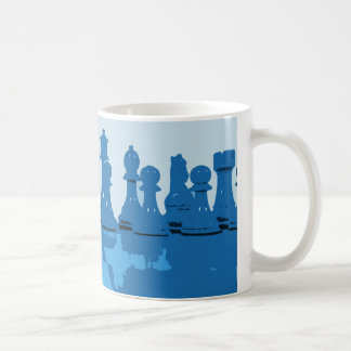 Blue Themed Chess Mug