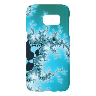 Blue Themed Fractal Pattern Samsung Galaxy S7 Case
