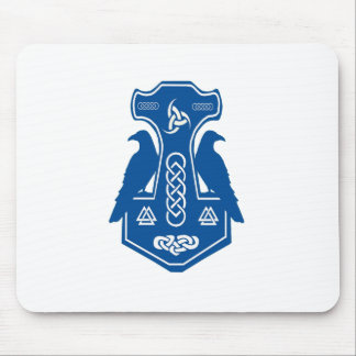 Blue Thor's Hammer Mouse Pad
