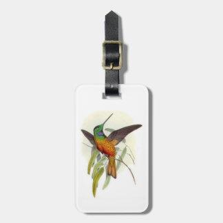 Blue Throated Hummingbird Luggage Tag