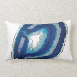 Blue Throw Agate Lumbar Pillow