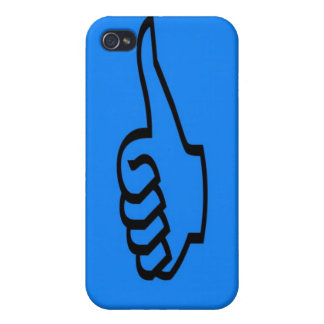 Blue Thumbs Up iPhone 4 Case