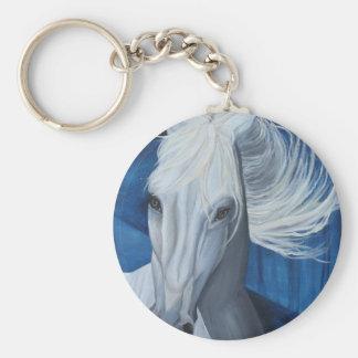 Blue Thunder Basic Round Button Keychain
