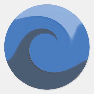 """""""Blue Tide"""" - Envelope Seal/Sticker Round Sticker"""