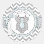 Blue Tie & Chevron Print Baby Shower