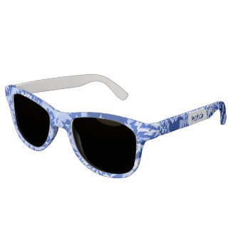 Blue Tie-Dye Cute Monogrammed Sunglasses