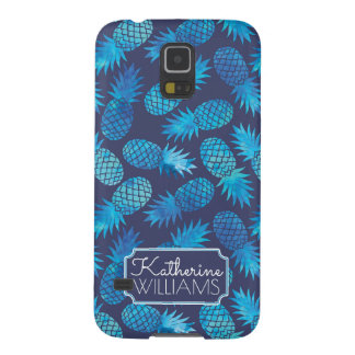 Blue Tie Dye Pineapples | Add Your Name Galaxy S5 Cover