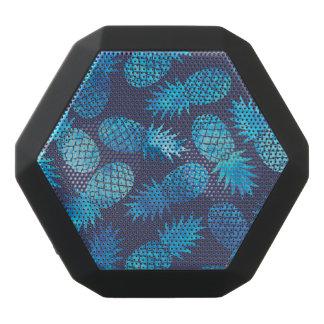 Blue Tie Dye Pineapples Black Bluetooth Speaker