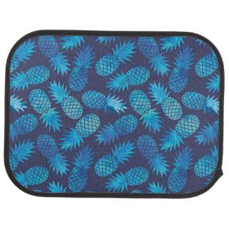 Blue Tie Dye Pineapples Car Floor Carpet