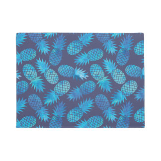 Blue Tie Dye Pineapples Doormat