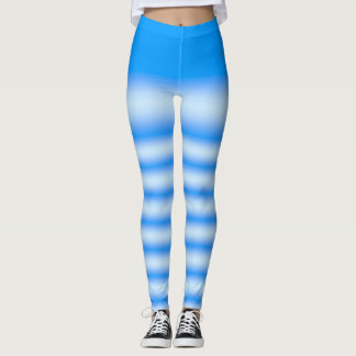 Blue Tie Dye Print Leggings