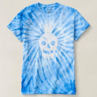 Blue Tie Dye Skull Shirt