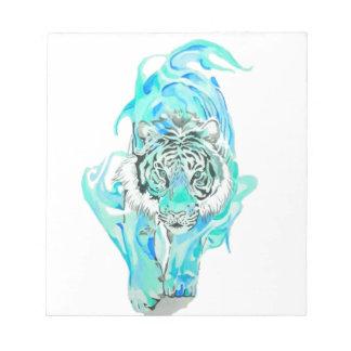 blue tiger notepad