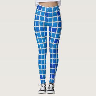 Blue Tile Leggings