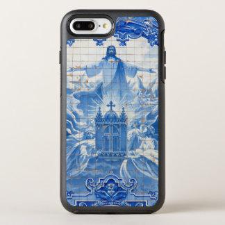 Blue tile mosaic of jesus, Portugal OtterBox Symmetry iPhone 7 Plus Case