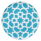 Blue tile of arabesque Moroccan and mosaic Plate