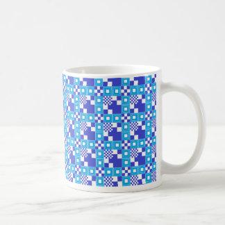 Blue Tile Pattern Mug