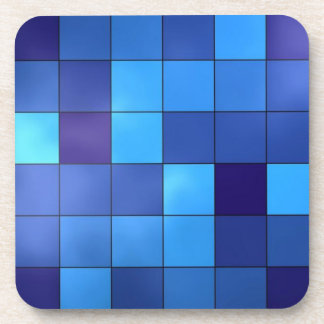 blue tiles drink coasters
