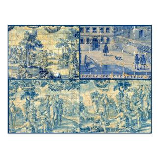 Blue tiles postcard