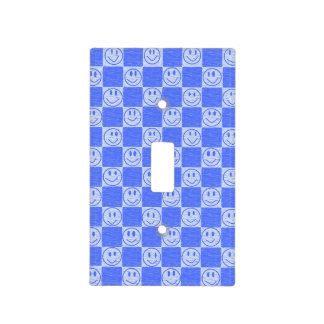 Blue Tiles with Smiles Light Switch Cover