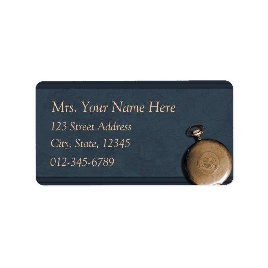 Blue Timepiece Address Lables