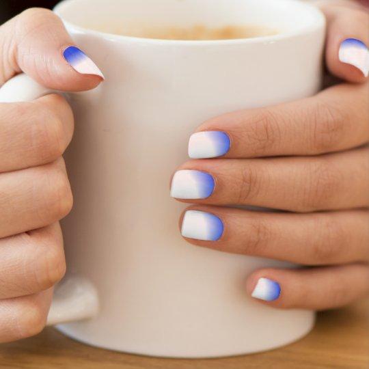 blue tint nail wraps