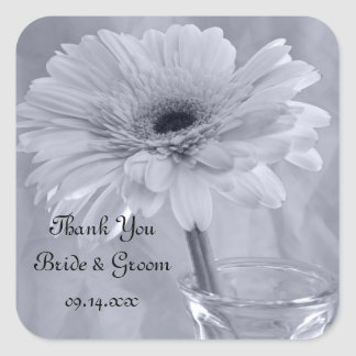 Blue Tinted Daisy Wedding Thank You Favor Tags