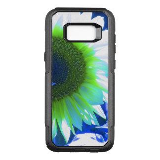 Blue Tinted Sunflower OtterBox Commuter Samsung Galaxy S8+ Case