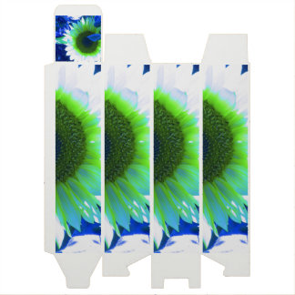 Blue Tinted Sunflower Wine Boxes