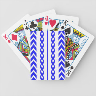 Blue Tire Tread Bicycle Playing Cards