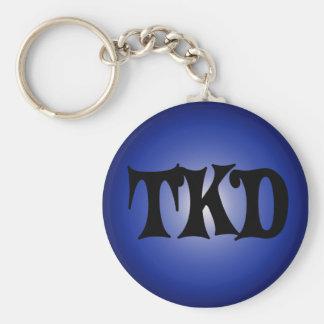 Blue TKD Keychain