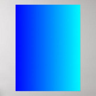 Blue to Aqua Gradient Poster