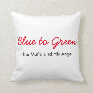 Blue to green pillow