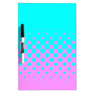 Blue to pink dry erase board