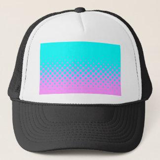 Blue to pink trucker hat