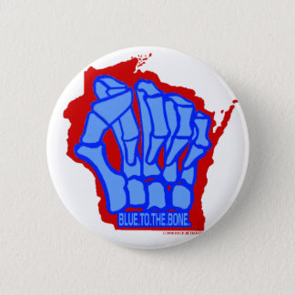 Blue to the bone button