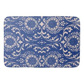 Blue Toile Bathroom Rug! Bath Mat
