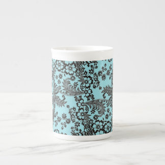 Blue Toile Tea Cup
