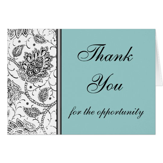 Blue Toile Thank You Cards, Personalized Card