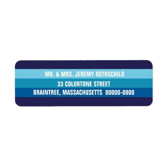Blue Tonal Return Address Label