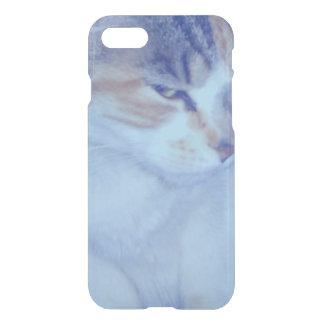 Blue Tone Calico Kitty iPhone 7 Case