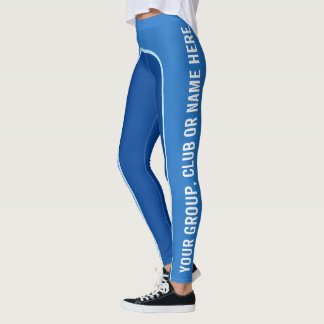 Blue Tones Customisable Named Leggings
