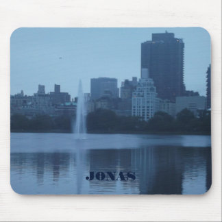 Blue Tones Landscape Of New York City Mouse Pad